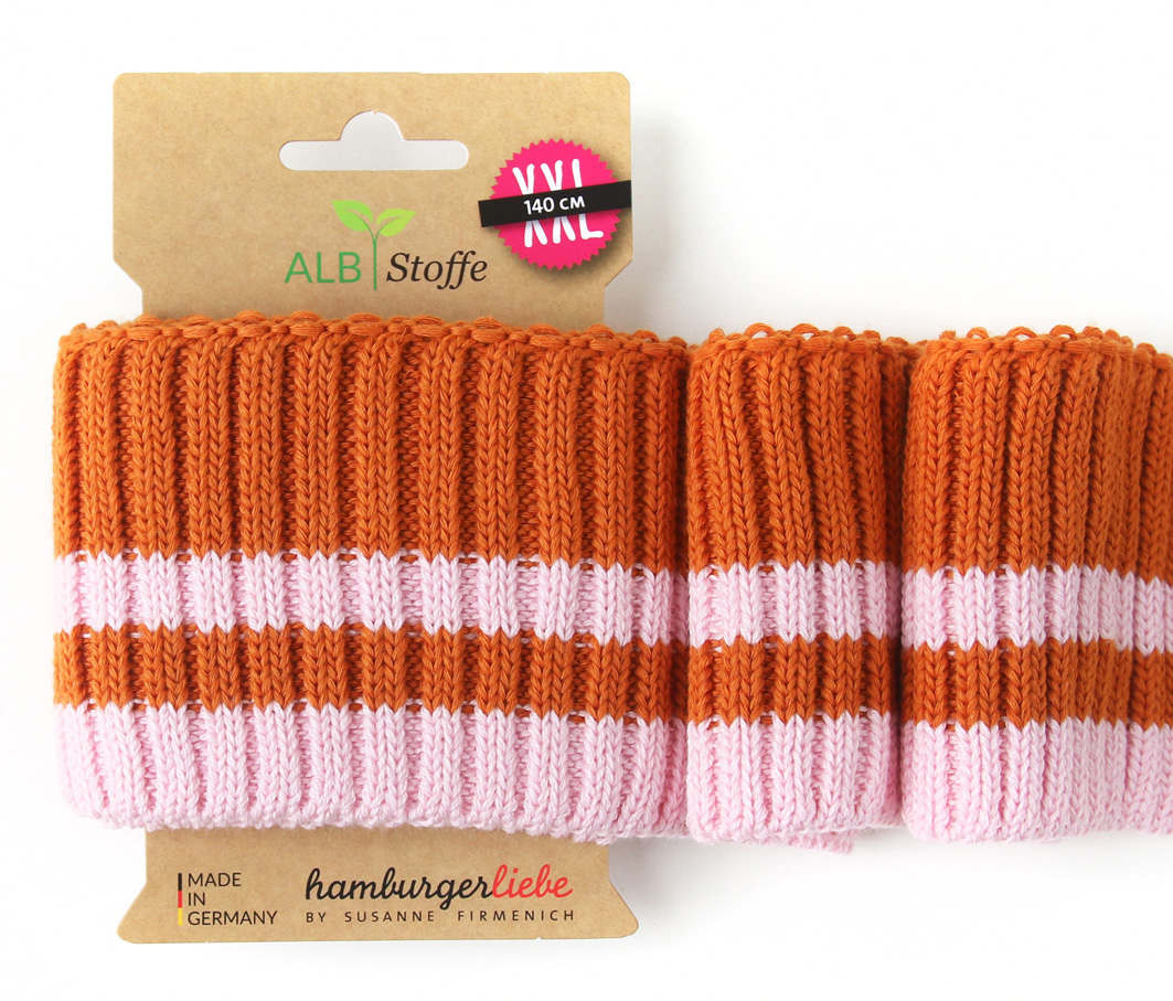 Cuff Me Cozy Stripes 08 Botanical Hamburger Liebe