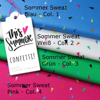 Confetti Sweat This Summer Hamburger Liebe Albstoffe