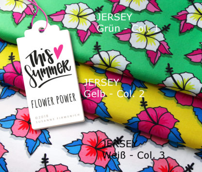 Flower Power Jersey This Summer Hamburger Liebe Albstoffe