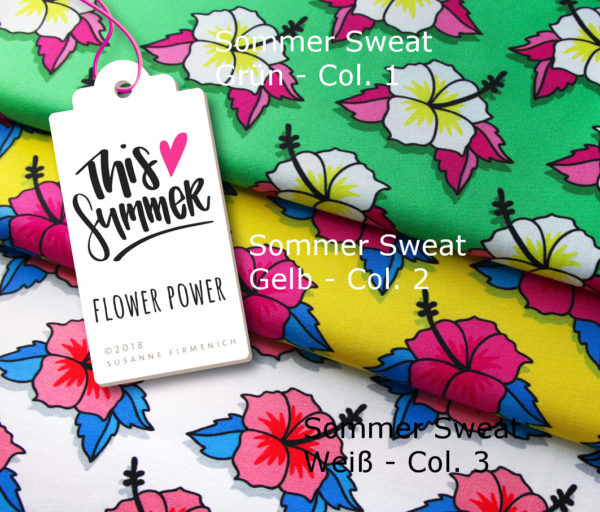 Flower Power Sweat This Summer Hamburger Liebe Albstoffe