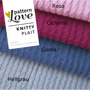 Bio-knitstoff Knitty Plait Pattern Love Hamburger Liebe Albstoffe