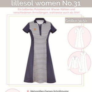 Pattern polo dress women no. 31