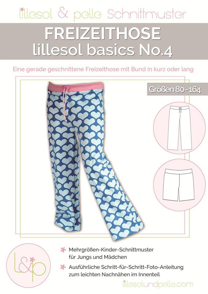 Sewing pattern leisure trousers children no. 04 by lillesol & pelle