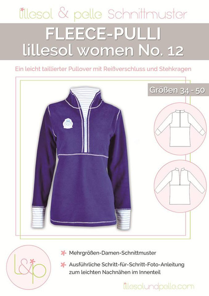 Schnittmuster Papier Fleece-Pulli women no. 12