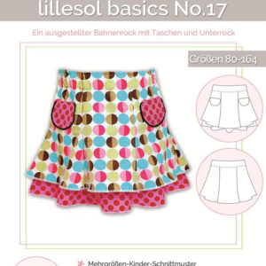 Sewing pattern two-layer skirt kids no. 17 by lillesol & pelle