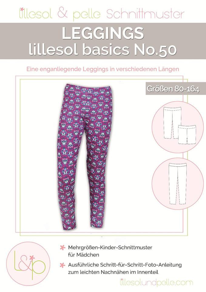 Sewing pattern leggings children no. 50 by lillesol & pelle
