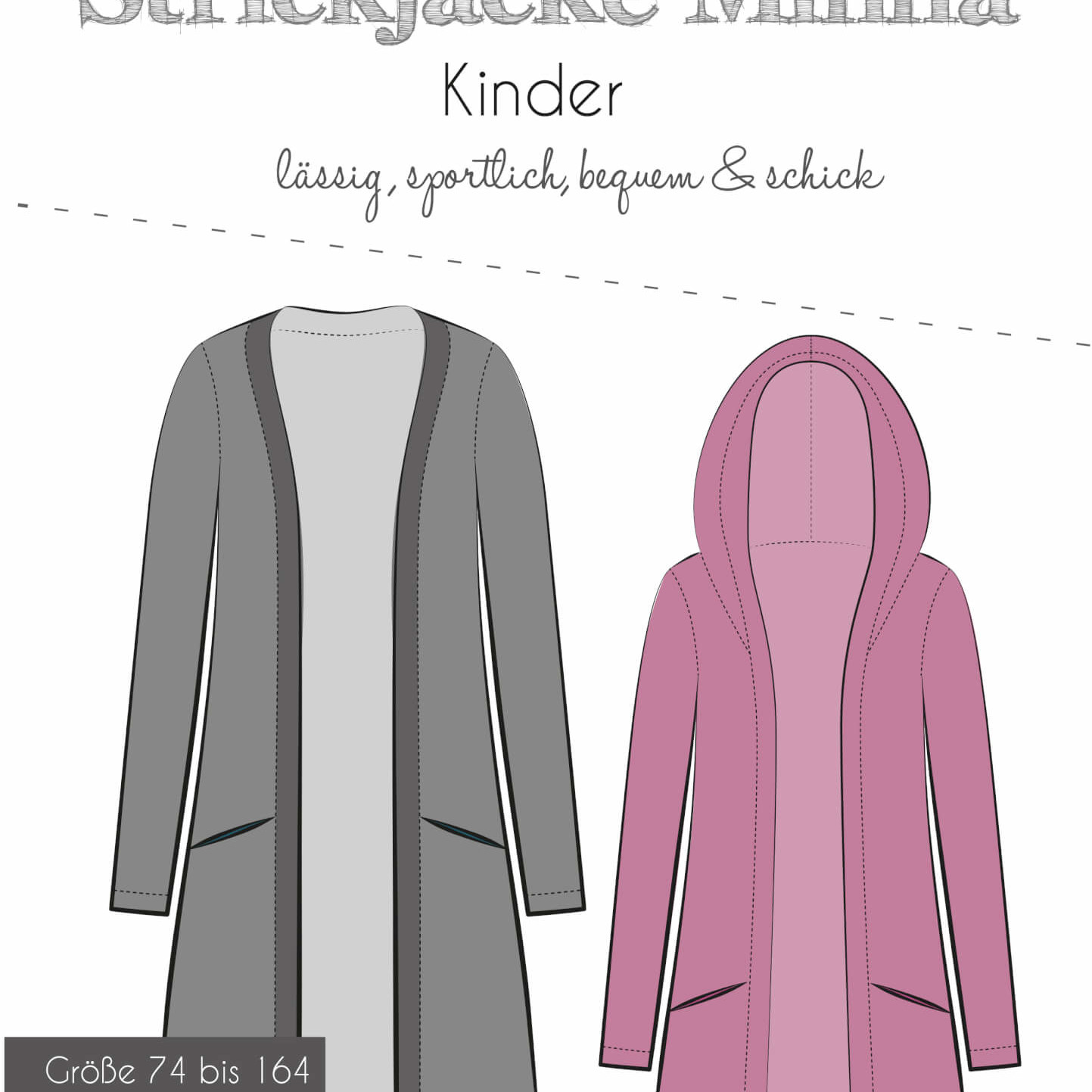 Schnittmuster Minna Strickjacke Kinder