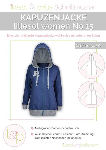Pattern hooded jacket no. 15 lillesol