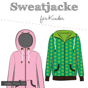 Sewing Pattern Kids Sweat Jacket Fadenkäfer Stoffträume4you