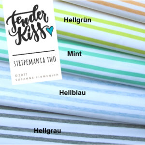 STRIPEMANIA TWO Hamburger Liebe ALBSTOFFE Ringeljersey Organic Fashion Stoffträume4you