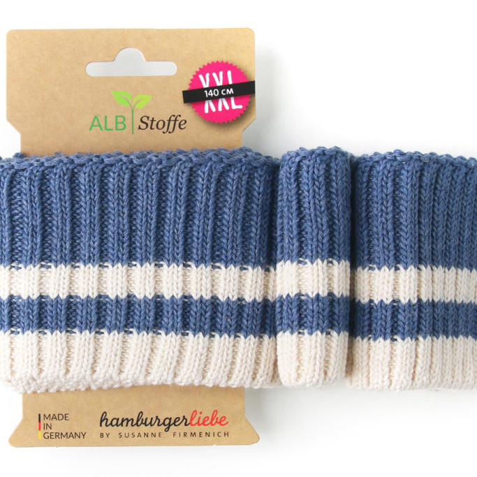 Cuff Me Cozy Stripes 09 Hamburger Liebe ALBSTOFFE Stofftraeume4you