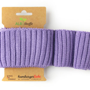 Cuff Me Cozy 82 Lilac This Summer Hamburger Liebe Albstoffe finished knit cuffs