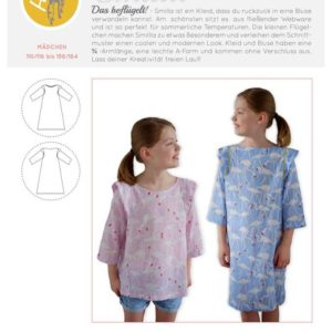 Smilla_Kids blouse dress Hedi sews