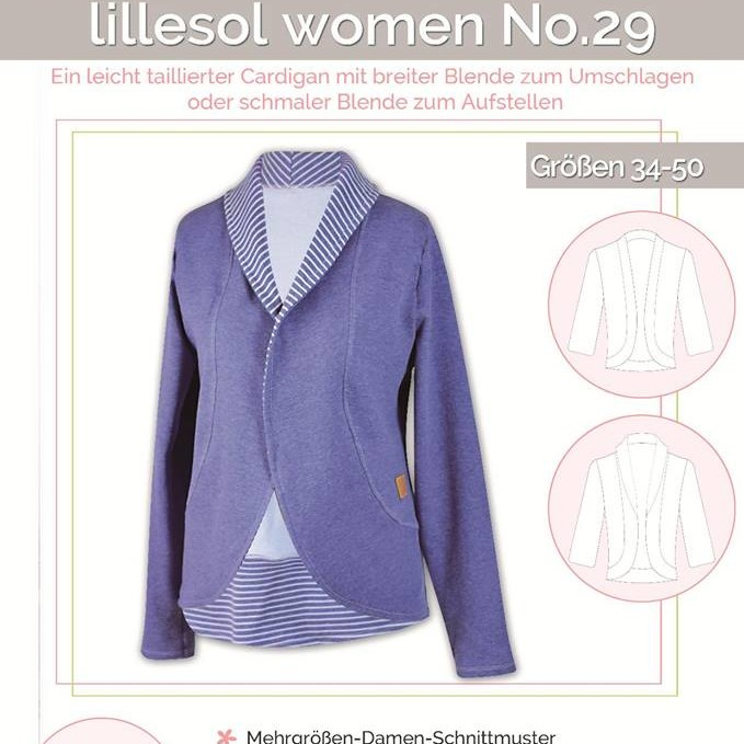 Cardigan women No.29 Lillesol Pelle