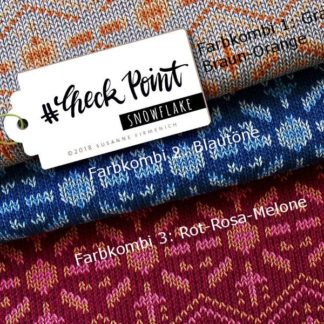 Jacquard Check Point Snowflake Albstoffe