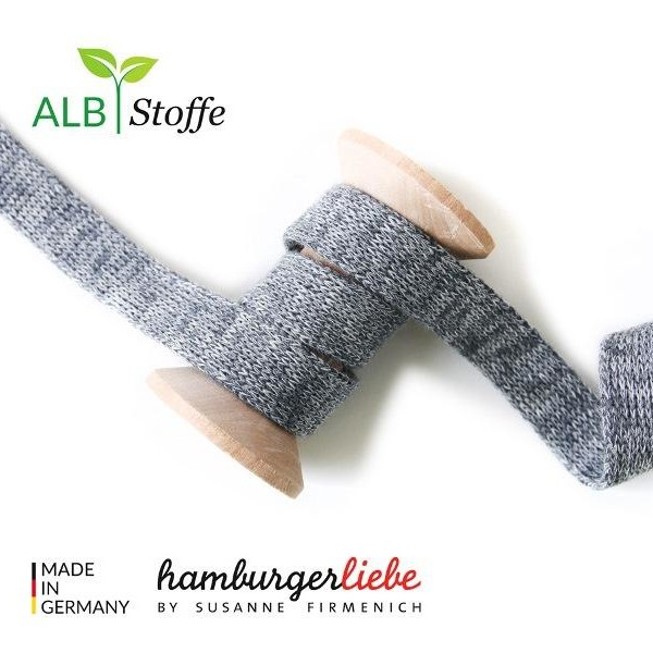 Cord Me Wide Mélange Gray Check Point Hamburger Liebe Albstoffe