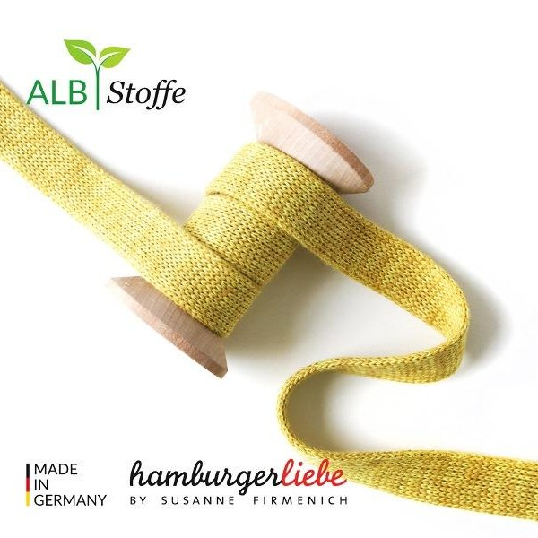 Cord Me Mustard Mélange Check Point Hamburger Liebe Albstoffe