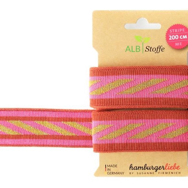 Stripe Me Icon 13 Hamburger Liebe Albstoffe Ribbon knit ribbon included Stoffträume4you