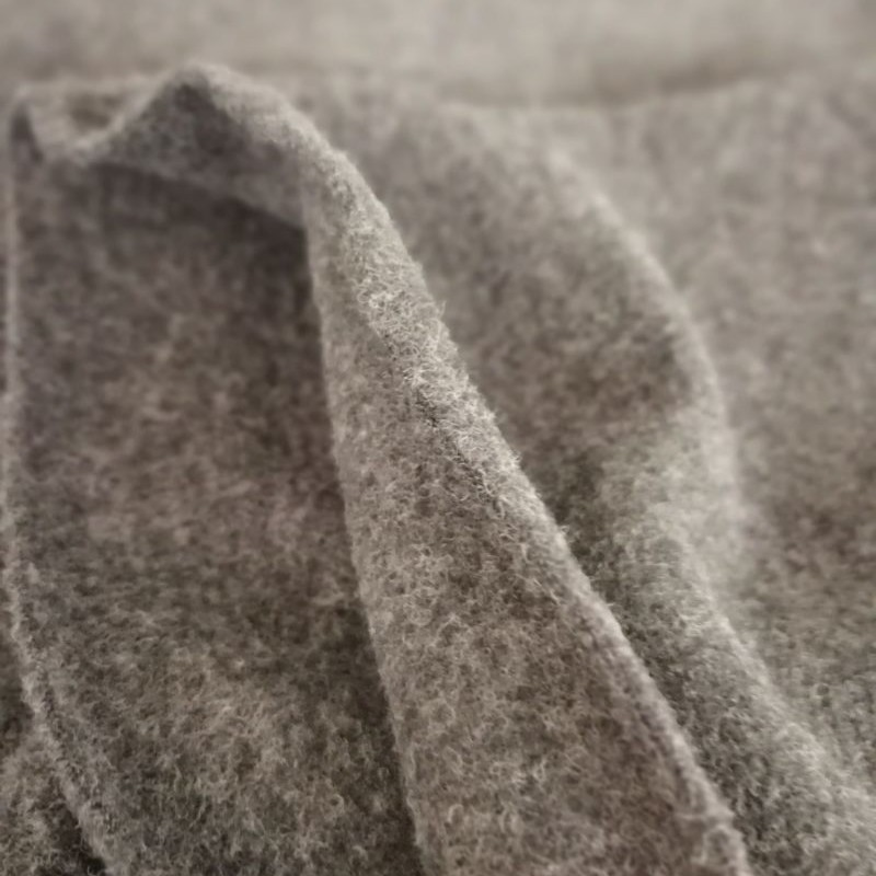 Wool fleece ALBSTOFFE slate Stoffträume4you 5