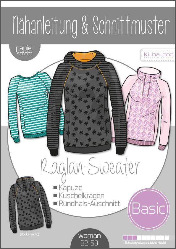 Raglan Sweater Basic Ladies Ki-ba-doo