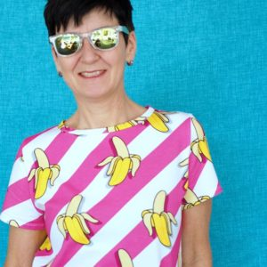 Bio-Jersey We're going Bananas Hamburger Liebe Albstoffe
