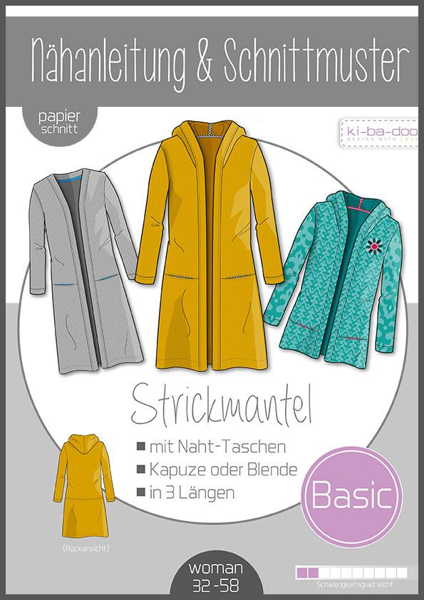 Basic knit coat paper cut Ki-ba-doo