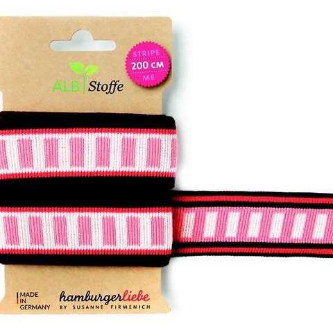 Stripe Me Icon 53 Wanderlust Hamburger Liebe WHITESTOFFE knitting bench for decorating sewing projects