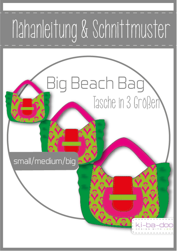 Beach Bag sewing pattern Ki ba doo