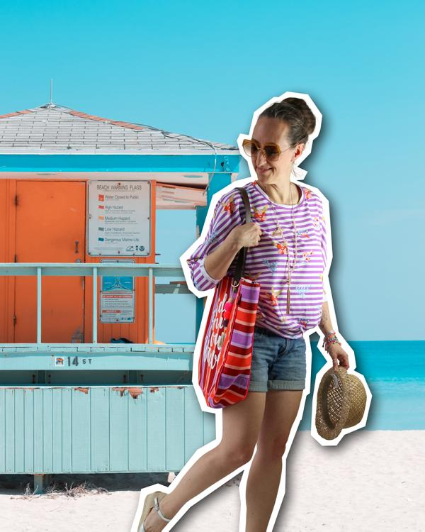 Summer Vibes Stretchjersey At the Beach Hamburger Liebe Hemmers Itex Stoffträume4you