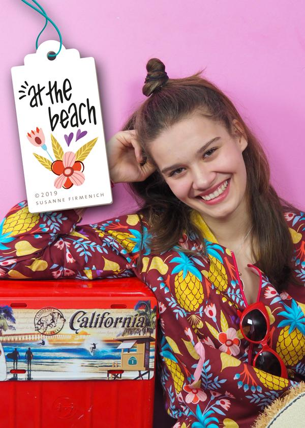 Sweet Pinapple Braun At the Beach Hamburger Liebe Hemmers Itex Stoffträume4you