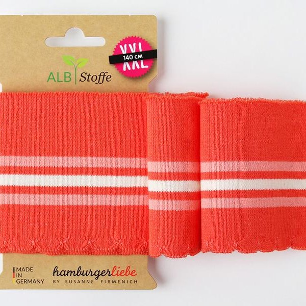 Cuff Me Wave 13 Hamburger Liebe Albstoffe Orange white striped