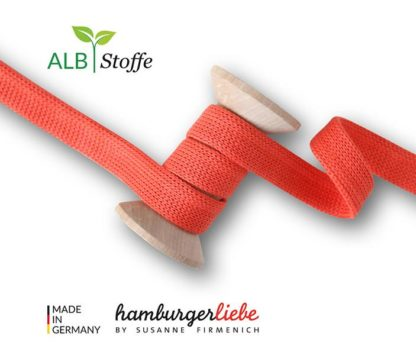 Cord Me Uni Luce Rosso A78 Weekender Luce Rosso Hamburger Liebe Albstoffe Orange