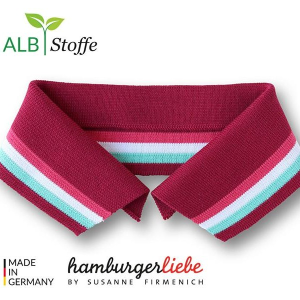 Polo Me Collar A87-01 College Hamburger Liebe WHITESTOFFE