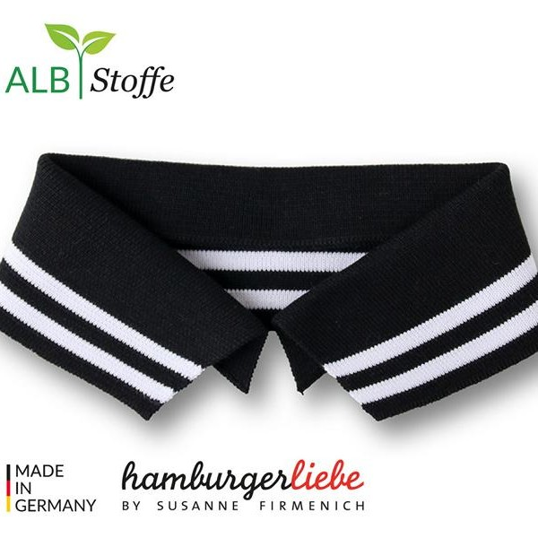 Polo Me Collar Black / White A99 / 01College Hamburger Liebe WHITESTOFFE