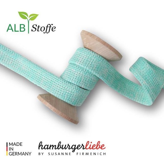 Cord Me Wide Mint Wool White Weekender Hamburger Liebe WHITESTOFFE at stofftraeume4you