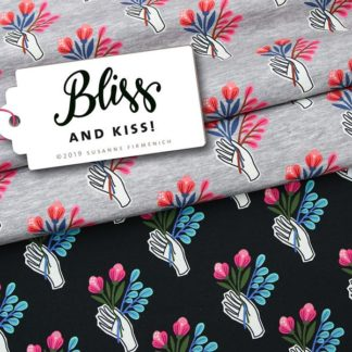 And Kiss BLISS Hamburger Liebe ALBSTOFFE Print