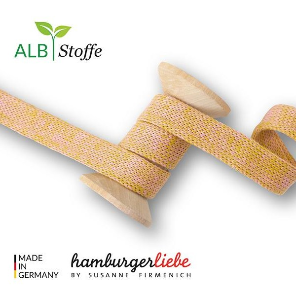 Cord Me Mustard Pink A73-03 BLISS Hamburger Liebe WHITESTOFFE