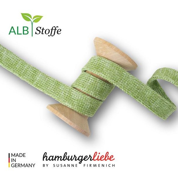 Cord me Olivia Lattuga A74-35 BLISS Hamburger Liebe WHITESTOFFE