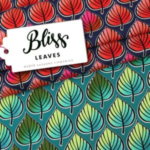 Leaves BLISS Hamburger Liebe ALBSTOFFE Print