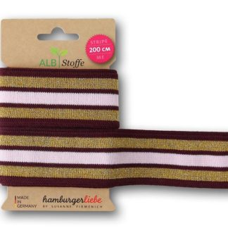 Stripe Me College 34 Glam BLISS Hamburger Liebe ALBSTOFFE