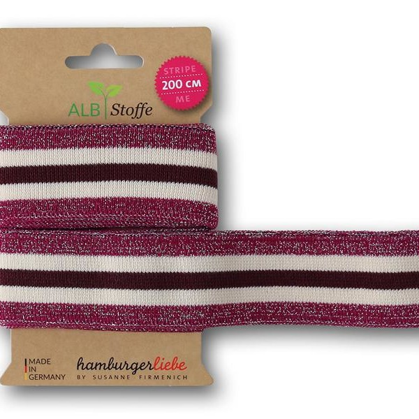 Stripe Me College Glam 35 Glam BLISS Hamburger Liebe ALBSTOFFE