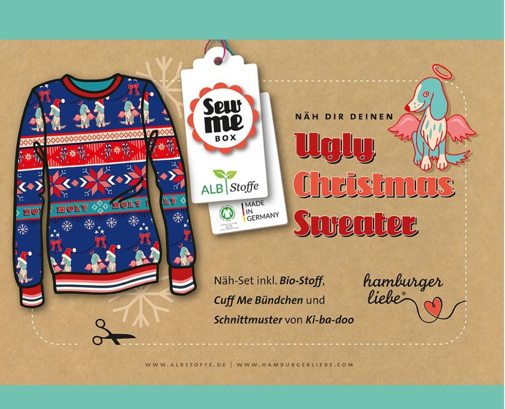 Sew Me Box Ugly Sweater Holy Moly Hamburger Liebe ALBSTOFFE