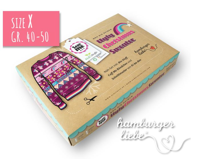 Sew Me Box Ugly Sweater SPARKLE Hamburger Liebe ALBSTOFFE