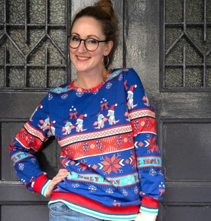 Ugly Sweater Holy Moly Sewing Box Hamburger Liebe ALBSTOFFE Miss Elbneedle Pullover