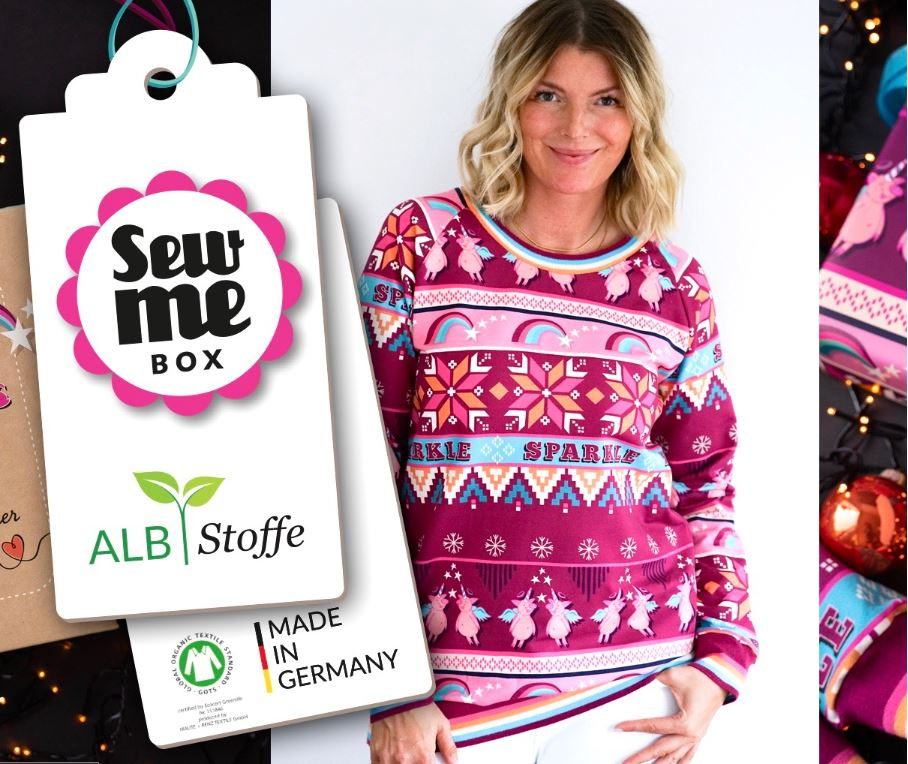 Ugly Sweater Sparkle Sew Me Box Hamburger Liebe ALBSTOFFE