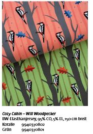 Will Woodpecker Cozy Cabin Hamburger Liebe Hemmers Stofftraeume4you