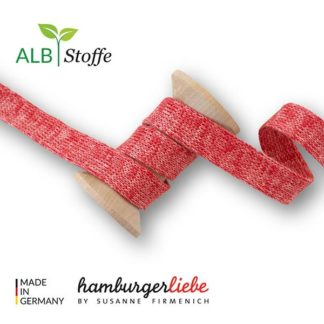 Cord Me Rot Papaia Hamburger Liebe ALBSTOFFE Stofftraeume4you A63/81 Hoodiekordel