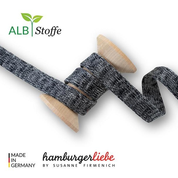 Cord Me Mélange Black Medium Gray Hamburger Liebe Albstoffe Stoffträume4you A99-31 Plain stitches