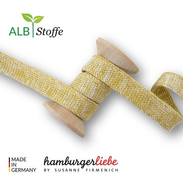 Cord Me Mustard Meringa Plain Stitches Hamburger Liebe WHITESTOFFE Stofftraeume4you A73 / 17