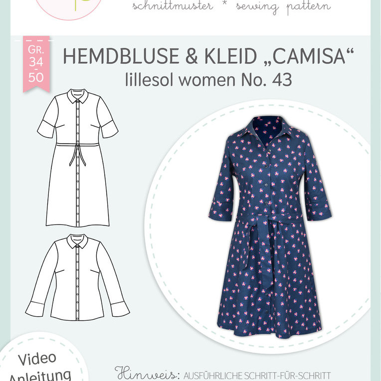 Hemdbluse Kleid Camisa women No.43 lillesol